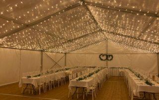 LED ve stanu bez lustrů, svatební stan, pronájem Štefek (2)