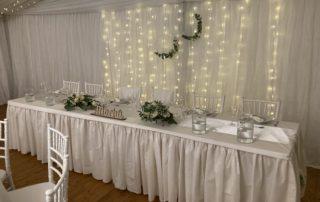 svatební stan s podlahou, světýlky, křišťálovými lustry, nábytkem, pronájem Štefek (6)